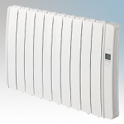 Elnur DIL10GC Diligens Series White Wireless Enabled 10 Element Oil Free Low Energy Radiator With G Control Options & Wi-Fi App