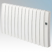 Elnur DIL12GC Diligens Series White Wireless Enabled 12 Element Oil Free Low Energy Radiator With G Control Options & Wi-Fi App