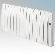 Elnur DIL14GC Diligens Series White Wireless Enabled 14 Element Oil Free Low Energy Radiator With G Control Options & Wi-Fi App