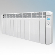 Haverland RC11BL RCBL Series White 11 Element Energy Saving Electric Radiator With Energy Monitor & 7 + 1 Bespoke Heating Schedu
