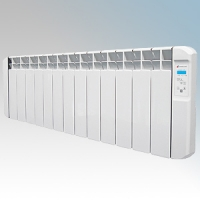 Haverland RC13BL RCBL Series White 13 Element Energy Saving Electric Radiator With Energy Monitor & 7 + 1 Bespoke Heating Schedules 1.5W W:1170mm x H:380mm x D:100mm