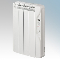 Elnur RF4E-PLUS RFE Plus Series White LOT20 Compliant 4 Element Oil Filled Low Energy Radiator With Digital Control & Programmer 500W W:415mm x H:580mm x D:100mm