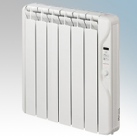 Elnur RF6E-PLUS RFE Plus Series White LOT20 Compliant 6 Element Oil Filled Low Energy Radiator With Digital Control & Programmer 750W W:575mm x H:580mm x D:100mm