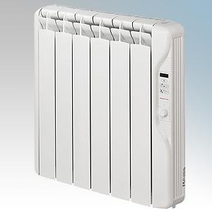 Elnur RF6E-PLUS RFE Plus Series White LOT20 Compliant 6 Element Oil Filled Low Energy Radiator With Digital Control & Programmer