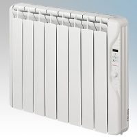 Elnur RF8E-PLUS RFE Plus Series White LOT20 Compliant 8 Element Oil Filled Low Energy Radiator With Digital Control & Programmer 1000W W:735mm x H:580mm x D:100mm
