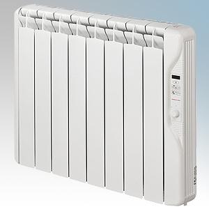 Elnur RF8E-PLUS RFE Plus Series White LOT20 Compliant 8 Element Oil Filled Low Energy Radiator With Digital Control & Programmer
