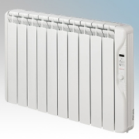 Elnur RF10E-PLUS RFE Plus Series White LOT20 Compliant 10 Element Oil Filled Low Energy Radiator With Digital Control & Programmer 1250W W:895mm x H:580mm x D:100mm