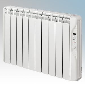 Elnur RF10E-PLUS RFE Plus Series White LOT20 Compliant 10 Element Oil Filled Low Energy Radiator With Digital Control & Programm