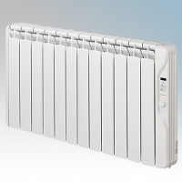 Elnur RF12E-PLUS RFE Plus Series White LOT20 Compliant 12 Element Oil Filled Low Energy Radiator With Digital Control & Programmer 1500W W:1055mm x H:580mm x D:100mm