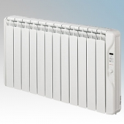 Elnur RF12E-PLUS RFE Plus Series White LOT20 Compliant 12 Element Oil Filled Low Energy Radiator With Digital Control & Programm