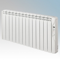 Elnur RF14E-PLUS RFE Plus Series White LOT20 Compliant 14 Element Oil Filled Low Energy Radiator With Digital Control & Programmer 2000W W:1215mm x H:580mm x D:100mm
