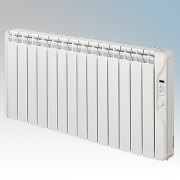 Elnur RF14E-PLUS RFE Plus Series White LOT20 Compliant 14 Element Oil Filled Low Energy Radiator With Digital Control & Programm