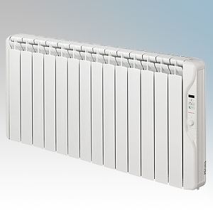 Elnur RF14E-PLUS RFE Plus Series White LOT20 Compliant 14 Element Oil Filled Low Energy Radiator With Digital Control & Programm