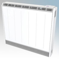 Creda Heating TSRE050 TSRE Series White LOT20 Compliant Slimline Storage Heater With 7 Day Programmable Timer & Electronic Thermostat IPX4 0.5kW