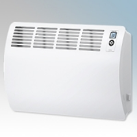 Stiebel Eltron CON20 PREMIUM White LOT20 Compliant Wall Mounted Panel Convector Heater With Integral Digital Controller & 7 Day Timer 2kW W:780mm x H:469mm x D:126mm