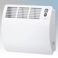 Stiebel Eltron CON15 PREMIUM White LOT20 Compliant Wall Mounted Panel Convector Heater With Integral Digital Controller & 7 Day Timer 1.5kW W:625mm x H:469mm x D:126mm