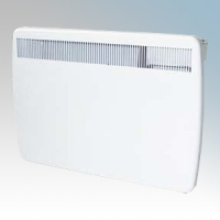 Creda Heating TPRIII125E TPRIIIE Series White LOT20 Compliant Slimline Panel Heater With Programmable Room Temperature, 7 Day Timer & Electronic Thermostat IP24 1.25kW