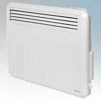 Dimplex PLX050E PLXE Series White LOT20 Compliant Panel Heater With Programmable Room Temperature, 7 Day Timer & Electronic Thermostat IP24 0.5kW