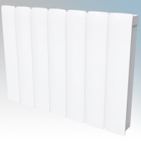 Dimplex MFP200E Monterrey White LOT20 Compliant Radiator Styled Panel Heater With Programmable Room Temperature, 7 Day Timer & Electronic Thermostat IP24 2.0kW