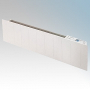 Dimplex LPP100E Saletto White LOT20 Compliant Low Profile Skirting Panel Heater With Programmable Room Temperature, 7 Day Timer