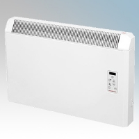 Elnur PH075PLUS PH Plus Series White LOT20 Compliant Electric Panel Heater With Adjustable Digital Thermostat IP24 750W H:410mm x W:410mm x D:105mm