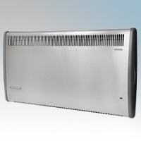 Consort PLE075SS PLE Series Stainless Steel Panel Heater With 7 Day Digital Timer & Electronic Thermostat 750W W:442mm x H:430mm x D:93mm