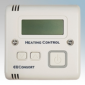 Consort SLVT White Wireless Controller With Run-Back Timer & Adjustable Thermostat
