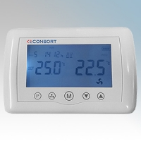 Consort CRX2 White Wireless Touch Programmable Controller With Large Backlit LCD Display and 4 Operating Modes