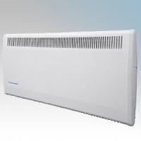 Consort PLSTI100E PLSTiE Series White Wall Mounted Low Surface Temperature Fan Heater With 7 Day Digital Timer & Intelligent Fan Control 1kW W:640mm x H:430mm x D:93mm