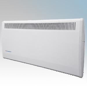 Consort PLSTI150E PLSTiE Series White Wall Mounted Low Surface Temperature Fan Heater With 7 Day Digital Timer & Intelligent Fan