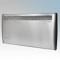 Consort PLSTI150SSE PLSTiE Series Stainless Steel Wall Mounted Low Surface Temperature Fan Heater With 7 Day Digital Timer & Intelligent Fan Control 1.5kW W:892mm x H:430mm x D:93mm