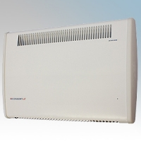 Consort PLSTI100SL PLSTi SL Series White Wall Mounted Wireless Controlled Low Surface Temperature Fan Heater - Requires SL Series Contoller 1kW W:640mm x H:430mm x D:93mm