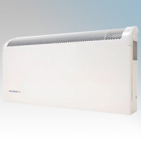 Consort CSL1MLST CSL LST Series White White Wall Mounted Low Surface Temperature Fan Heater With Integral Mesh Grille - Requires SL Series Contoller 1kW H:360mm x W:590mm x D:130mm