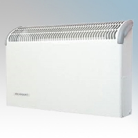 Consort CSL1LST CSL LST Series White White Wall Mounted Low Surface Temperature Fan Heater - Requires SL Series Contoller 1kW H:360mm x W:590mm x D:130mm