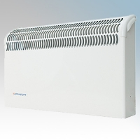 Consort CSL2SC White Wall Mounted Wireless Controlled Convector Heater With Reduced Temperature Rise - Requires SL Series Contoller 2kW W:590mm x H:360mm x D:130mm