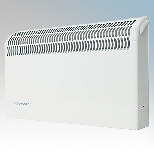 Consort CSL2SC White Wall Mounted Wireless Controlled Convector Heater With Reduced Temperature Rise - Requires SL Series Contol