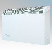 Consort CSL2SR White Wall Mounted Wireless Controlled Convector Heater With Built-In Heat Deflector - Requires SL Series Contoller 2kW W:590mm x H:360mm x D:130mm