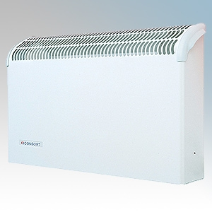 Consort CSL2SR White Wall Mounted Wireless Controlled Convector Heater With Built-In Heat Deflector - Requires SL Series Control