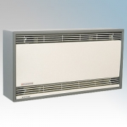 Consort HE6137SL Flowzone Barley White/Mink Grey Wall Mounted Fan Heater - Requires SL Series Contoller 3kW H:260mm x W:500mm x