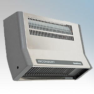 Consort BFH2SLSS Stainless Steel Metal Bodied Wall Mounting Wireless Controlled Downflow Fan Heater - Requires SL Series Contoll