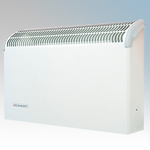 Consort CN2FSL White Wall Mounted Wireless Controlled Fan Heater - Requires SL Series Contoller 2kW H:360mm x W:590mm x D:130mm