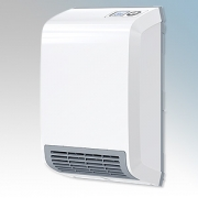 Stiebel Eltron CK20 TREND LCD White LOT20 Compliant Wall Mounted Fan Heater With Bottom Front Grille, Digital Controller & 7 Day