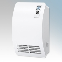 Stiebel Eltron CK20 PREMIUM White LOT20 Compliant Wall Mounted Fan Heater With Bottom Front Grille, Digital Controller & 7 Day Timer 2kW W:345mm x H:469mm x D:126mm