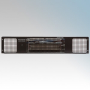Consort PHSL2BL PHSL Series Black Wireless Controlled Electric Base Unit Heater - Requires SL Series Contoller 2kW H:100mm x W:5