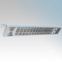 Consort HE6343SL Twinzone Aluminium Wall Mounting Wireless Enabled Glass Element Infra Red Heater With Adjustable Bracket IP24 - Requires SL Series Contoller 3kW H:57mm x W:1170mm x D:162mm