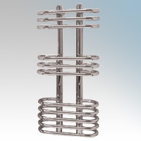 Vent-Axia 447862 ATACAMAOS Chrome Designer Oval Ladder Style Towel Rail With Wall Brackets 150W W:300mm x H:650mm x D:170mm