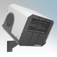 Consort CH09IRX White/Grey 1Ph/3Ph Wall Mounting Wireless Controlled Commercial Fan Heater With Intelligent Fan Control - Requires CRX2 Controller 9kW H:300mm x W:360mm x D:390mm