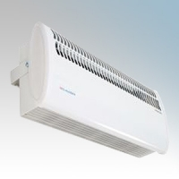 Consort HE7010SL White Wireless Controlled High Level Fan Heater With Fixing Bracket - Requires SL Series Contoller 3kW H:210mm x W:485mm x D:115mm
