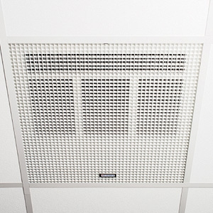 Consort HE7245SL White Wireless Controlled Recessed Ceiling Heater With White Aluminium Diffuser (Fits Standard 600mm Ceiling Pa