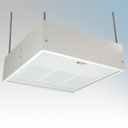 Consort HE7247SL White Wireless Controlled Surface/Suspended Enclosed Ceiling Heater With Surface Mount Kit & White Aluminium Di